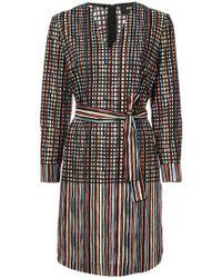 Paule Ka - Printed Poplin Dress - Lyst
