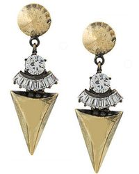 Iosselliani - White Eclipse Earrings - Lyst