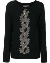 Jo No Fui - Embroidery Knit Sweater - Lyst