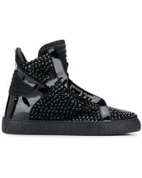 d3936072131 Gucci High-top Sneaker With Crystal Studs in Black for Men - Lyst