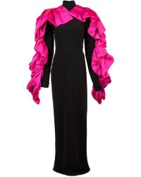 Christian Siriano - Contrast Ruffled Detail Gown - Lyst