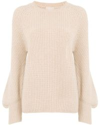 Drumohr - Ribbed Flared Sleeve Sweater - Lyst