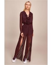 The Fifth Label - Titania Lace-up Jumpsuit - Lyst