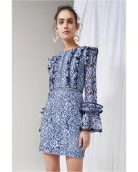 Keepsake - Catch Me Long Sleeve Lace Dress - Lyst