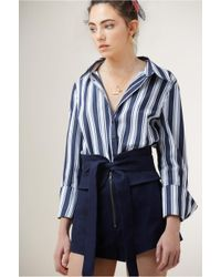 Finders Keepers - Longshot Stripe Shirt - Lyst
