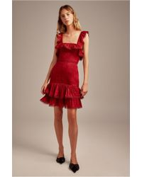 Keepsake - Too Close Sleeveless Pleated Tier Ruffle Fitted Mini Dress - Lyst