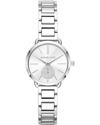 9770d49ed88d Michael Kors Mk3709 Women s Portia Bracelet Strap Watch in Metallic ...