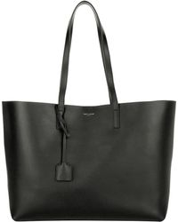 82c2c1ac6138 Saint Laurent Ysl Large Shopping Bag Black Tulip in Purple - Lyst