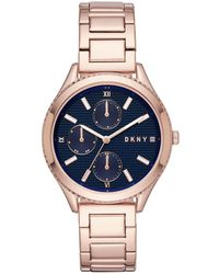 DKNY - Woodhaven Watch Rosegold - Lyst