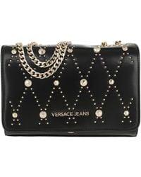 Versace Jeans - Studded Chain Crossbody Bag Black - Lyst f8c071a4c99b8