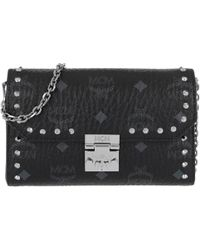 MCM - Patricia Studded Outline Crossbody Bag Small Black - Lyst