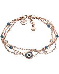 Emporio Armani - Fashion Bracelet Rosegold - Lyst