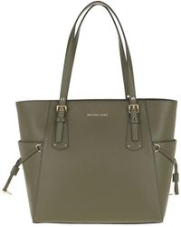 2c8bfe4b080f Michael Kors Penny Lg Convertible Tote Olive in Green - Lyst
