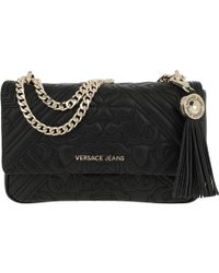 Versace Jeans - Embroidered Chain Crossbody Bag Black - Lyst 9e0e8d2685f57