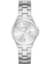 DKNY - Parsons Watch Silver - Lyst