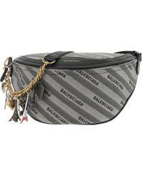 Balenciaga - Nerka Souvenir Belt Bag Grey - Lyst