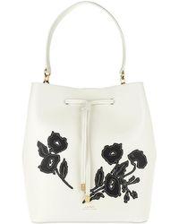 Lauren by Ralph Lauren - Dryden Drawstring Bag Vanilla/black Floral - Lyst