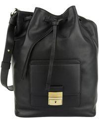 Tru Trussardi - Calfskin Bucket Bag Black - Lyst