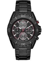 MICHAEL Michael Kors - Gents Jetmaster Black-tone Carbon Fibre Watch - Lyst