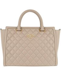 Love Moschino | Quilted Nappa Handle Bag Tortora | Lyst