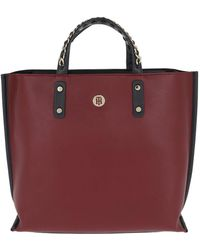 Tommy Hilfiger - Tommy Chain Tote Burgundy - Lyst