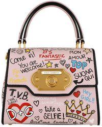 a034e2ffcdf3 Dolce   Gabbana - Welcome Handbag Calfskin Rosa - Lyst