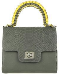 Lili Radu - Phyton Print Miniature Bag Grey/grey - Lyst