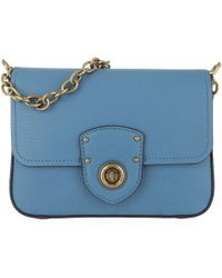 Lauren by Ralph Lauren - Millbrook Crossbody Bag Pebbled Leather French Blue - Lyst