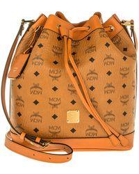MCM - Heritage Drawstring Bucket Bag Small Cognac - Lyst
