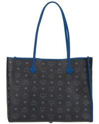 MCM - Kira Visetos Ew Shopper Medium Black - Lyst
