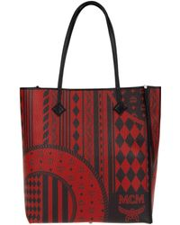 MCM - Kira Visetos Ns Shopper Medium Ruby Red - Lyst