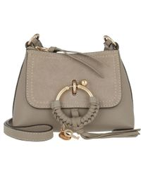 f78c5eb377 See By Chloé Women s Allen Leather Shoulder Bag - Motty Grey in ...