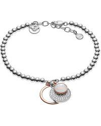 Emporio Armani - Logo Charms Bracelet Silver - Lyst