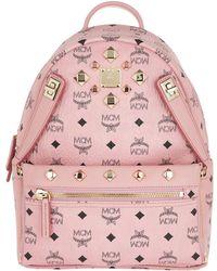 MCM - Dual Stark Backpack/pouchette Visetos Soft Pink - Lyst