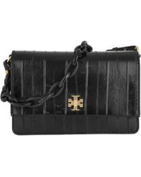 df745045434 Tory Burch Alastair Runway Eel Stripe Shoulder Bag in Brown - Lyst