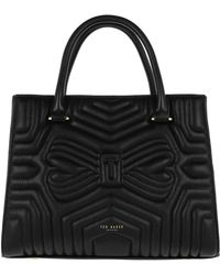 Ted Baker - Vieira Quilted Bow Tote Bag Black - Lyst