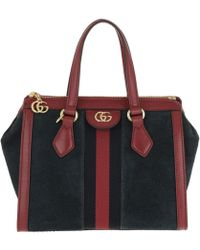 db8da2d158b7 Gucci Rebelle Medium Top Handle Bag Red in Red - Lyst