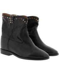 Étoile Isabel Marant - Cluster Wedge Studded Boots Black - Lyst
