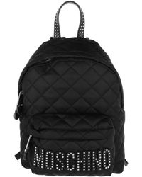 Moschino - Quilted Logo Studs Backpack Black - Lyst