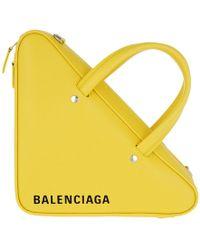Balenciaga - Triangle Duffle Xs Leather Tote - Lyst
