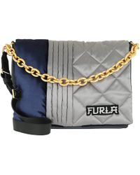 Furla - Bomber M Shoulder Bag Blue/acciaio - Lyst
