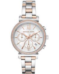 Michael Kors - Mk6558 Sofie Jetset Watch Silver - Lyst