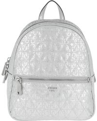 Guess - Tabbi Backpack Silver - Lyst