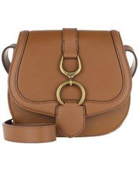 Lauren by Ralph Lauren - Barrington Crossbody Bag Pebbled Leather Lauren Tan - Lyst