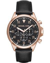 Michael Kors - Mk8535 Gents Gage Watch Black - Lyst