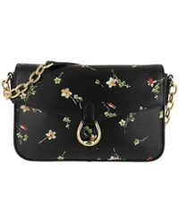 0e8101e134 Lauren by Ralph Lauren - Bennington Flap Crossbody Bag Medium Black Vintage  Floral - Lyst