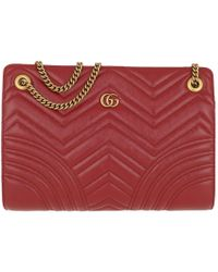 290595363 Gucci - GG Marmont 2.0 Shoulder Bag Leather Red - Lyst