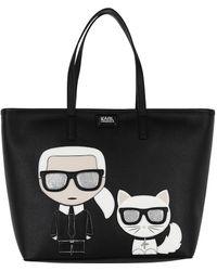 Karl Lagerfeld - K/ikonik Shopper Black - Lyst