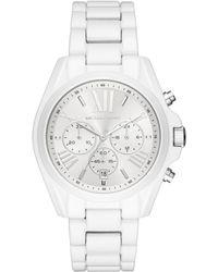 Michael Kors - 'bradshaw' Quartz Stainless Steel Casual Watch, Color:white (model: Mk6585) - Lyst