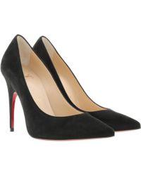 4027239e1f82 Christian Louboutin - Alminette 100 Court Shoes Velours Black - Lyst